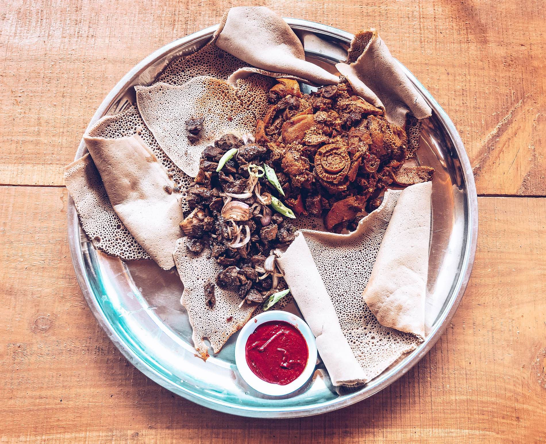 Injera Traditional And National Dish Of Ethiopia