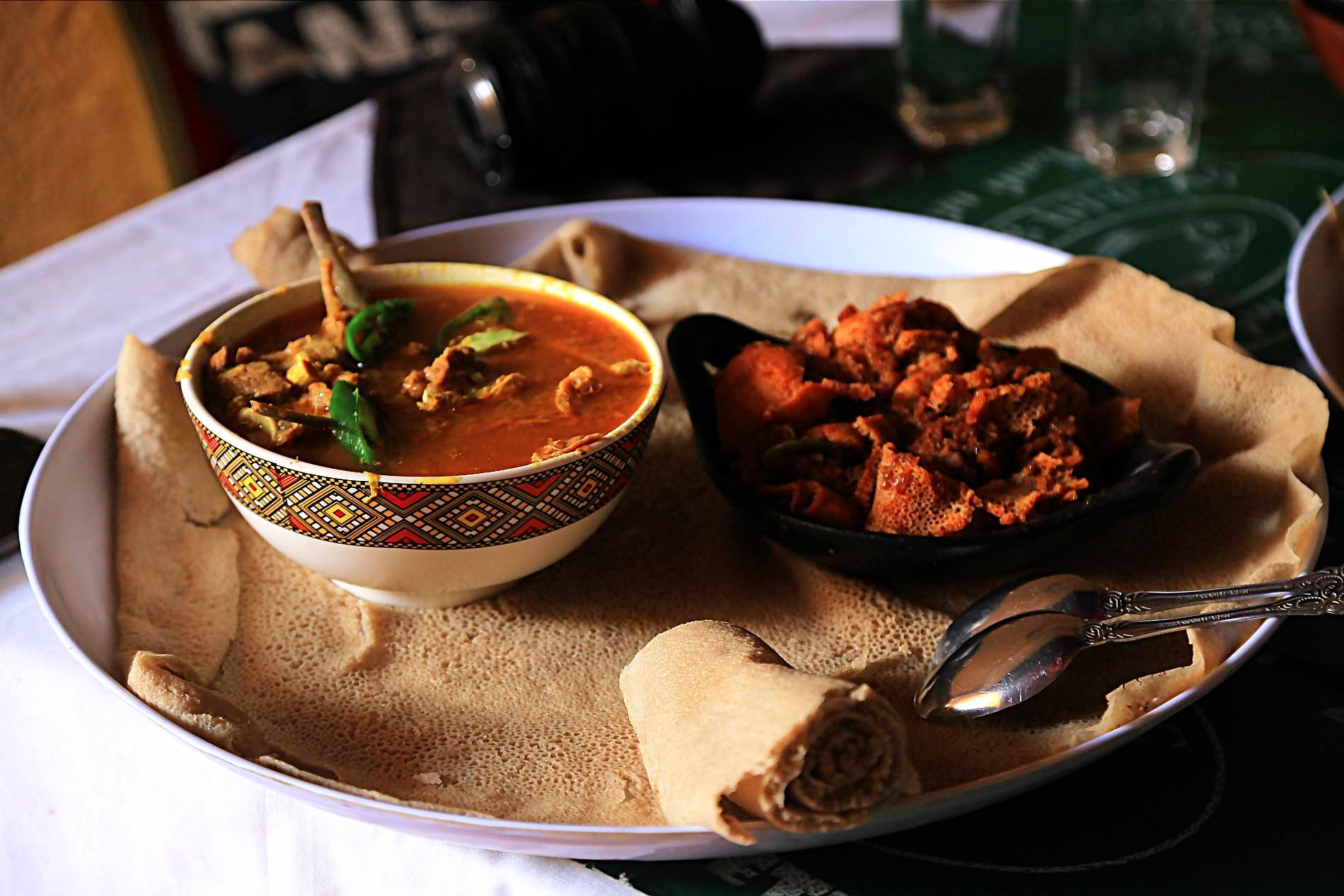 Ethiopian Food (kiqel And Firfir)
