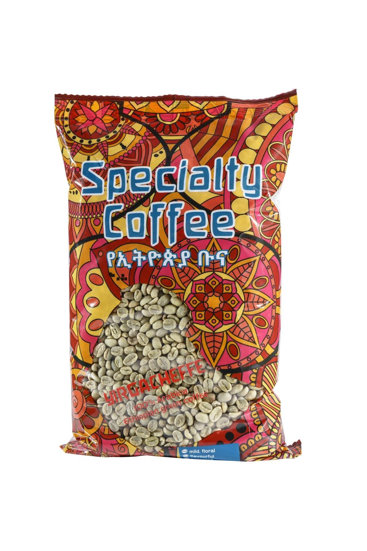 Äthiopischer Hochland Rohkaffee Arabica Yirgacheffe